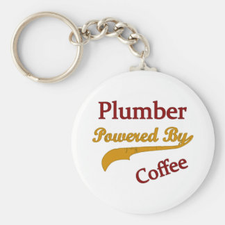 Rörmokare som drivas av kaffe rund nyckelring