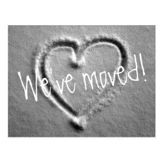 Rörs vykort med utdragen hjärta i snö