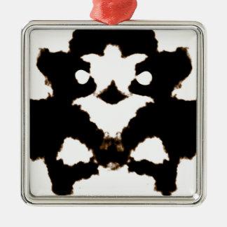Rorschach testar av ett bläckplumpkort julgransprydnad metall