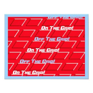Rört mönster för raster för meddelandegataaveny 10,8 x 14 cm inbjudningskort