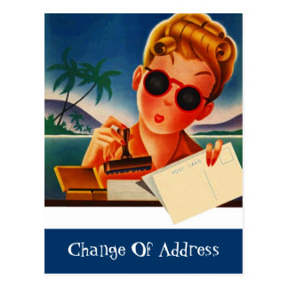 Rört nytt adressändringmeddelande för vykort