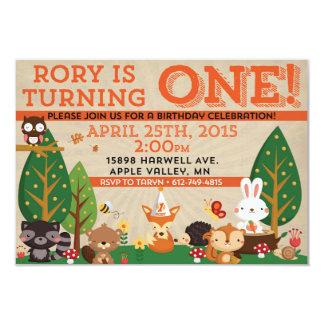 Rory första födelsedaginbjudan 8,9 x 12,7 cm inbjudningskort