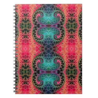 Rosa abstrakt för persikaturkosFractal Anteckningsbok