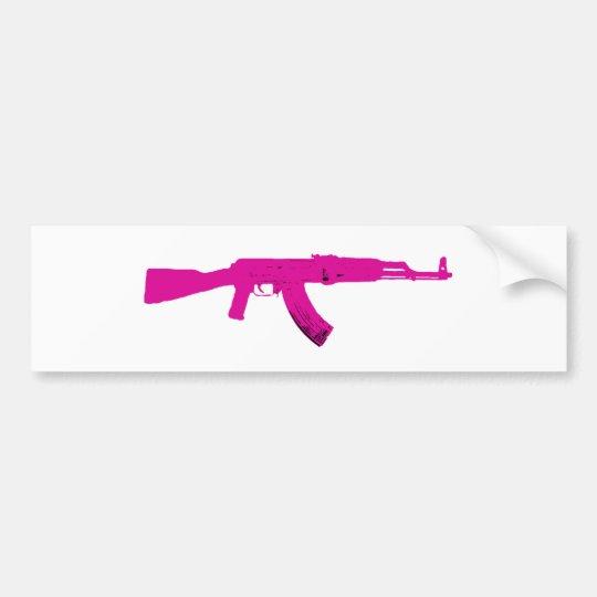 Rosa AK 47 Bildekal