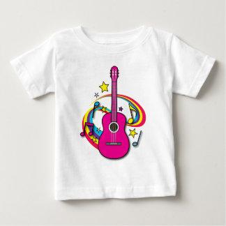 Rosa akustisk gitarr t shirt