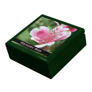 Rosa Alstroemeria belägger med tegel boxas Smyckeskrin