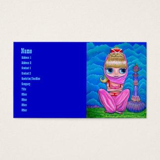 Rosa ande i arabiska sagor och henne magisk flaska visitkort