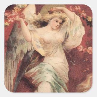 Rosa ängel - klistermärke