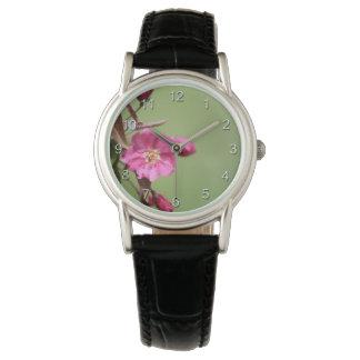 Rosa Apple blommar Armbandsur