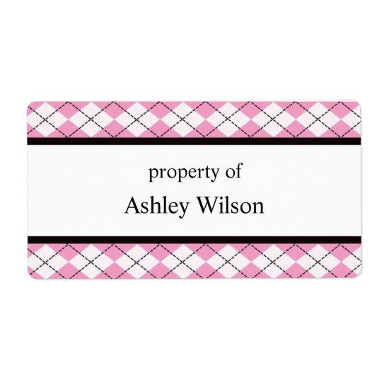 Rosa Argyle etiketter Fraktsedel