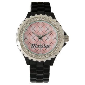 Rosa Argyle för personlig klocka