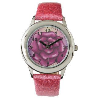 Rosa armbandsur för söt