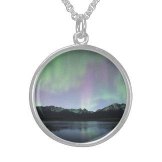 Rosa aurora sterling silver halsband