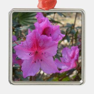 Rosa Azaleasblommaprydnad Julgransprydnad Metall