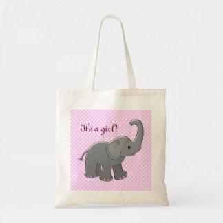 rosa baby showerelefant tote bag