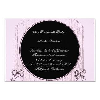 Rosa Bachelorette partyinbjudan 8,9 X 12,7 Cm Inbjudningskort