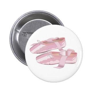 Rosa balett skor tofflor pins