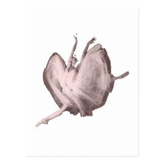 Rosa Ballerina Vykort