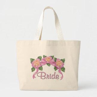 Rosa bandbröllop - brud tote bags