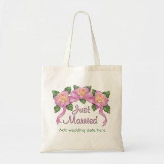 Rosa bandbröllop - ny gifta budget tygkasse