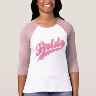 Rosa baseballutslagsplats för brud t-shirt