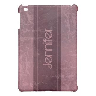 Rosa bedrövad Grungemarmor iPad Mini Mobil Skal
