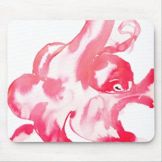 Rosa bläckfisk musmatta