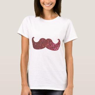 Rosa Bling mustasch (grafiskt Fauxglitter) T Shirt