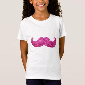 Rosa Bling mustasch (grafiskt Fauxglitter) Tee Shirt