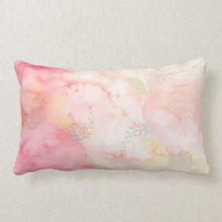 Rosa blom- bakgrund för vattenfärg lumbarkudde
