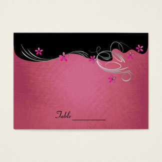 Rosa blom- bröllop för vintage visitkort