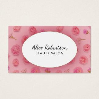 Rosa blom- design visitkort