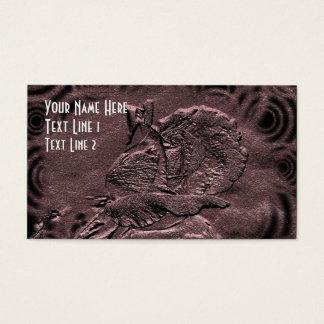 Rosa blom- konstvisitkort för plommon visitkort