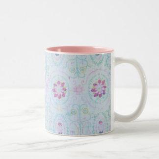 Rosa blom- mugg