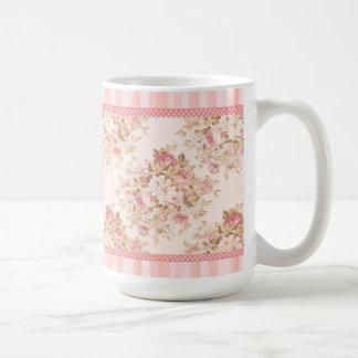 Rosa blom- shabby chicmugg mugg