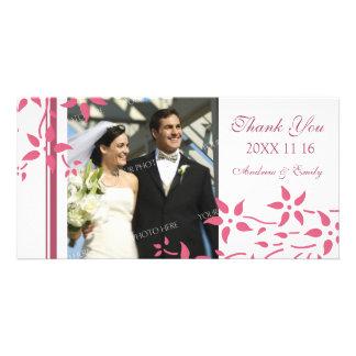 Rosa blom- tack som gifta sig fotokort