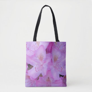 Rosa blom- toto tygkasse