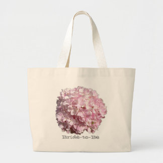 Rosa blom- vanlig hortensiabröllop hänger lös jumbo tygkasse