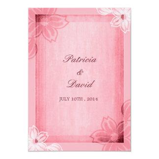 Rosa blom- vattenfärgbröllopinbjudningar 12,7 x 17,8 cm inbjudningskort