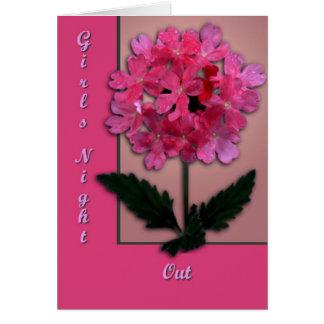 Rosa blommar hälsningskort
