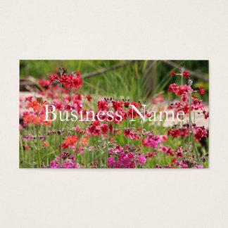 Rosa blommig visitkort