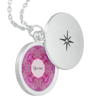 Rosa blommigt sterling silver halsband