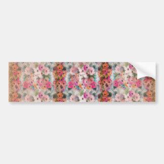 Rosa blommigtrandar för vintage bildekal