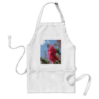 Rosa blommor förkläde