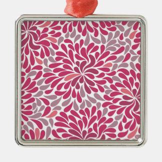 rosa blommor julgransprydnad metall