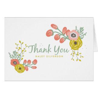 Rosa botaniskt tackkort OBS kort