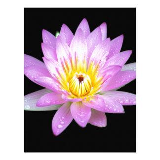 Rosa brevpapper för lotusblommablommabrevhuvud