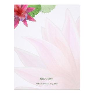 Rosa brevpapper för lotusblommabrevhuvudlinne