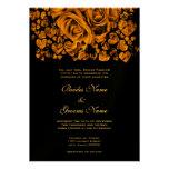 Rosa bröllop för guld anpassade inbjudningskort