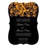 Rosa bröllop för guld 12,7 x 17,8 cm inbjudningskort
